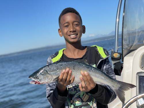 first seattle salmon catch